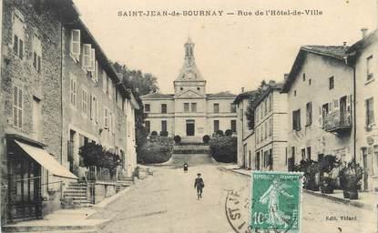 """CPA FRANCE 38 """" St Jean de Bournay, Rue de l'Hôtel de Ville""""."""