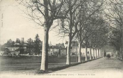 "CPA FRANCE 38 "" St Jean de Bournay, Avenue de la gare""."
