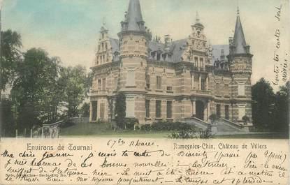"""CPA BELGIQUE """"Ramegnies Chin, Chateau de Villers"""""""