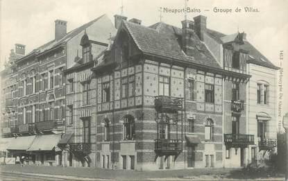 """CPA BELGIQUE """"Nieuport Ville, groupe de villas"""""""
