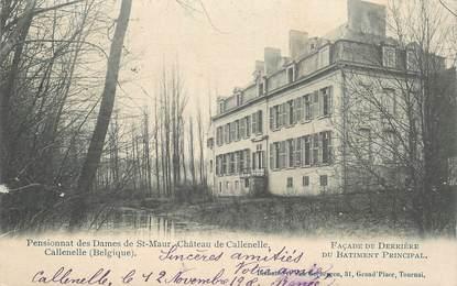 """CPA BELGIQUE """"Pensionnat des Dames de Saint Maur, Chateau de Callenelle"""""""
