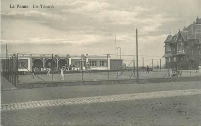 """CPA BELGIQUE """"La Panne, Le Tennis"""""""