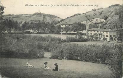 """CPA FRANCE 38 """" Châtonnay, Quartier de Ste Colombe""""."""