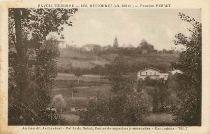 """CPA FRANCE 73 """"Bettonnet, Pension Perret"""""""