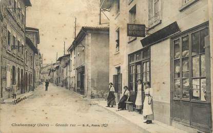 """CPA FRANCE 38 """" Châtonnay, Grande Rue""""."""
