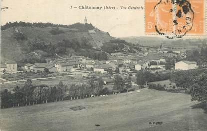 """CPA FRANCE 38 """" Châtonnay, Vue générale""""."""