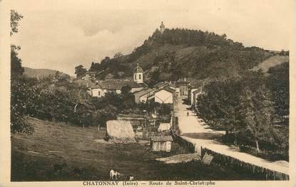 """CPA FRANCE 38 """" Châtonnay, Route de St Christophe""""."""