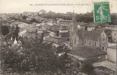 """CPA FRANCE 38 """" Auberives de Roussillon, Vue générale""""."""