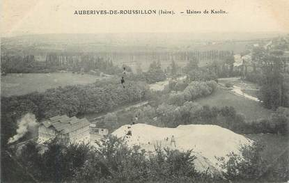 "CPA FRANCE 38 "" Auberives de Roussillon, Usines de Kaolin""."