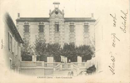"""CPA FRANCE 38 """" Chanas, Ecole communale""""."""
