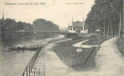"""CPA BELGIQUE """"Exposition universelle 1905, pont en béton armé"""""""