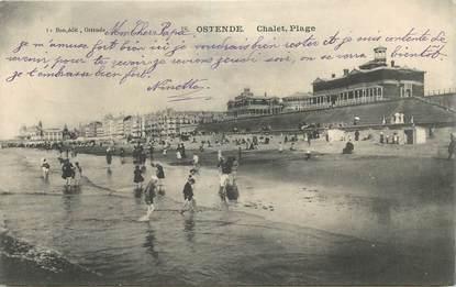 """CPA BELGIQUE """"Ostende, la plage"""""""