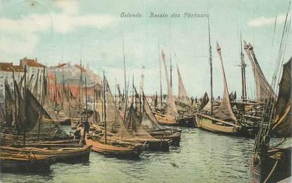 "CPA BELGIQUE ""Ostende, bassin des pêcheurs"""