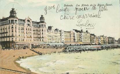"""CPA BELGIQUE """"Ostende, les hotels de la digue"""""""