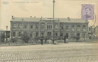 """CPA BELGIQUE """"Charleroi, la gare de l'Ouest"""""""