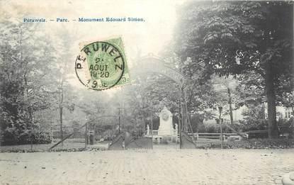 """CPA BELGIQUE """"Péruwelz, Monument Edouard Simon"""""""