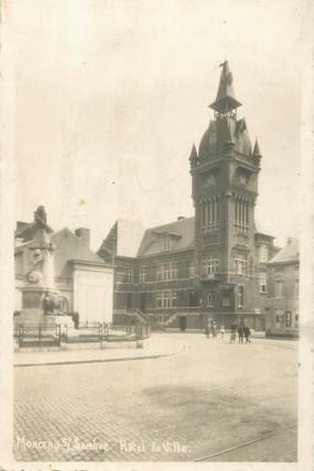 """CPA BELGIQUE """"Monceau sur Sambre, Hotel de ville"""""""