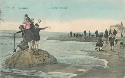 """CPA BELGIQUE """"Ostende, sur la plage"""""""