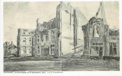 "CPA BELGIQUE ""Nieuport, la rue longue"" / ILL. Wagemans"