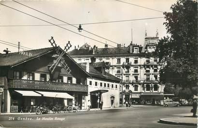 """CPSM SUISSE """"Genève, le Moulin Rouge"""""""