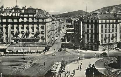 """CPSM SUISSE """"Genève, la rue du Mont Blanc"""""""