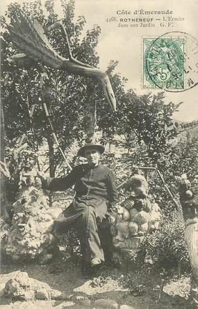 "CPA FRANCE 35 ""Rotheneuf, l'Ermite dans son jardin"""