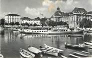 """Suisse CPSM SUISSE """"Neuchatel, le port et l'Hotel des postes"""""""