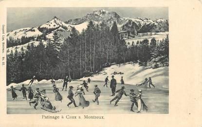 """CPA SUISSE """"Patinage à Caux sur Montreux"""""""