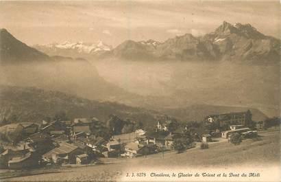 """CPA SUISSE """"Chesières, le glacier de Trient"""""""