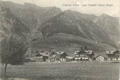 "CPA SUISSE ""Chateau d'Oex, les Chalets Perce Neige"""