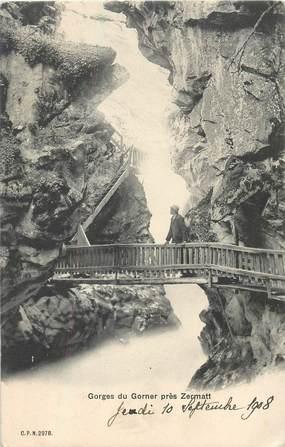 "CPA SUISSE ""Gorges du Gorner près Zermatt"""