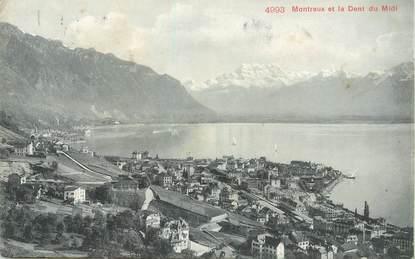 """CPA SUISSE """"Montreux et la Dent du Midi"""""""