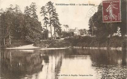 """CPA FRANCE 50 """"Torigni sur Vire, Le Grand Etang""""."""