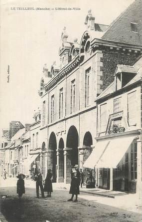 """CPA FRANCE 50 """"Le Teilleul, L'Hôtel de Ville""""."""