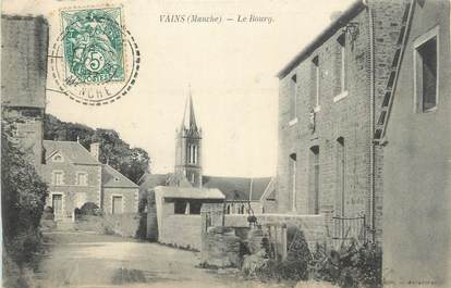 "CPA FRANCE 50 ""Vains, Le Bourg""."