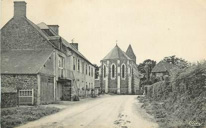 """CPA FRANCE 50 """"St Samson de Bonfossé, La Mairie, les écoles route de Condé sur Vire""""."""