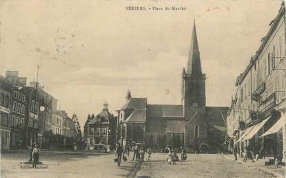 """CPA FRANCE 50 """"Périers, Place du marché""""."""