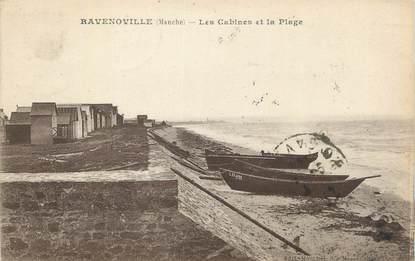 """CPA FRANCE 50 """"Ravenoville, Les cabines et la plage""""."""