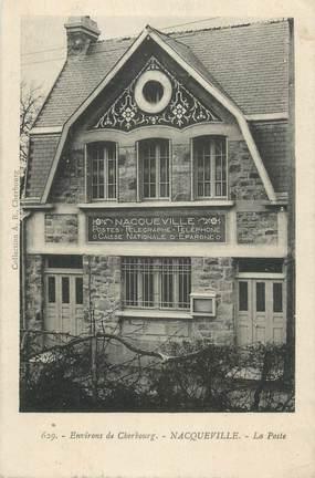 """CPA FRANCE 50 """"Nacqueville, La Poste""""."""