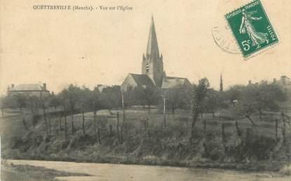 """CPA FRANCE 50 """"Quetreville, Vue sur l'église""""."""