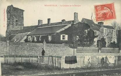 """CPA FRANCE 50 """"Régneville, Le château et le donjon""""."""