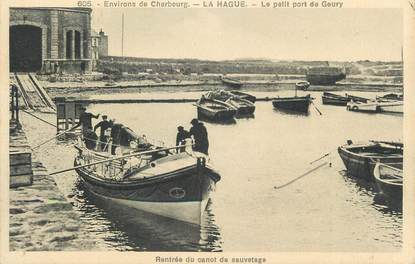 "CPA FRANCE 50 ""La Hague, Le petit port de Goury""."