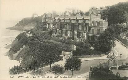 """CPA FRANCE 35 """"Dinard, les Terrasses et la Pointe du Moulinet"""""""