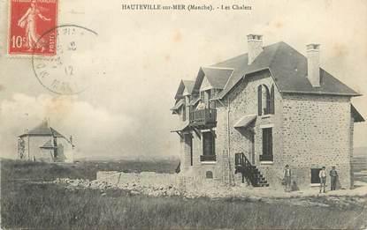 """CPA FRANCE 50 """"Hauteville sur Mer, Les chalets""""."""