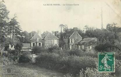 "CPA FRANCE 50 ""La Haye Pesnel, Le château Ganne""."