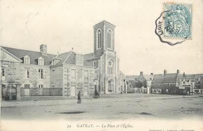"""CPA FRANCE 50 """" Gavray, La Place et l'église""""."""