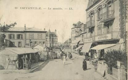 """CPA FRANCE 50 """" Goutainville, La montée""""."""
