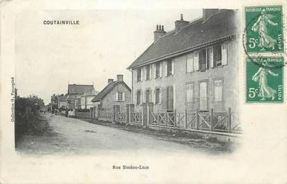 """CPA FRANCE 50 """" Coutainville, Rue Siméon Luce""""."""