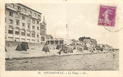 """CPA FRANCE 50 """" Coutainville, La plage""""."""