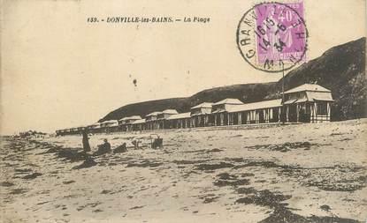 """CPA FRANCE 50 """" Donville les Bains, La plage""""."""